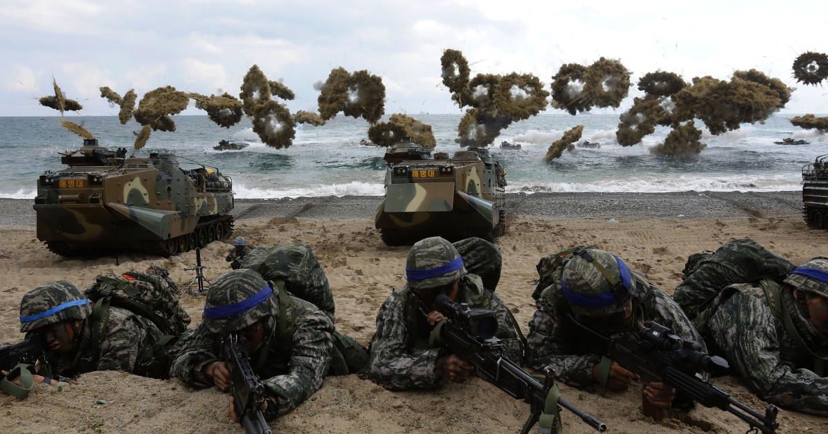 U S , South Korea plan massive joint military exercise to