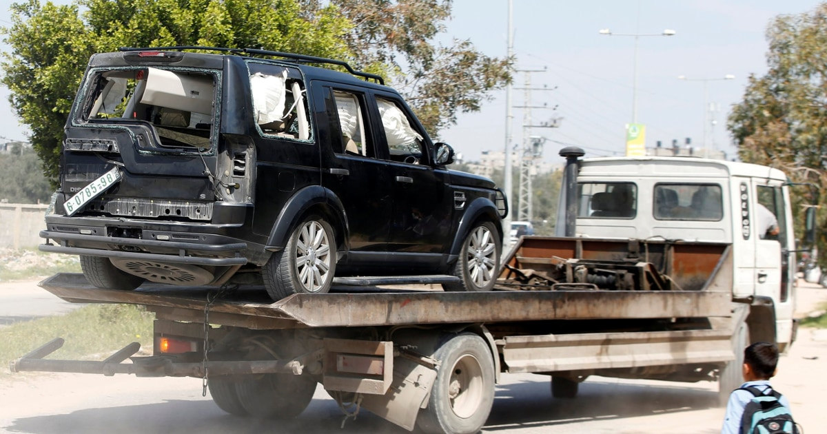 Blast strikes Palestinian PM's convoy during rare trip to Gaza