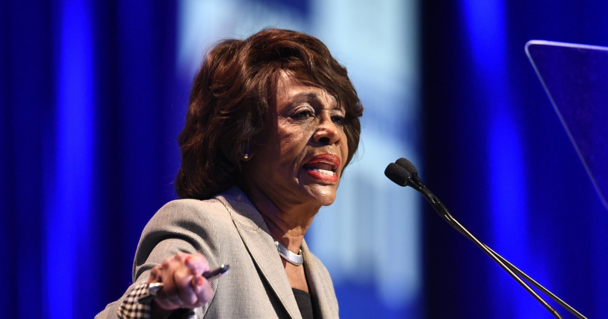Rep Waters Calls For Harassing Admin Officials In Public Trump Calls Her Low Iq