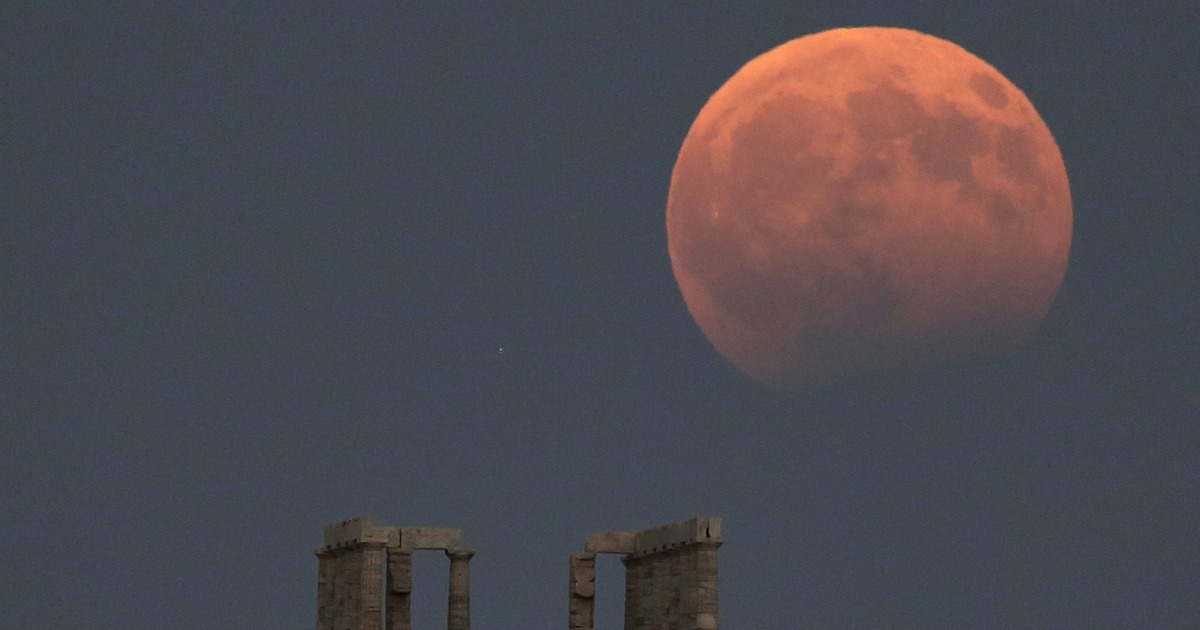 Total lunar eclipse will turn the moon blood red this week