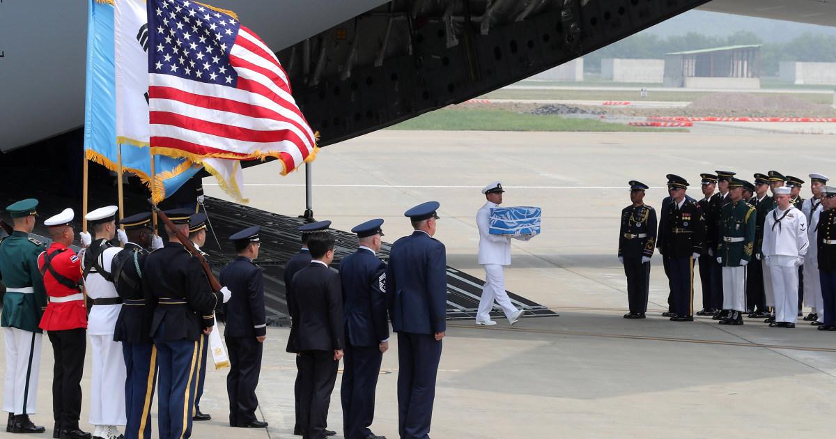 North Korea returns potential remains of 55 U.S. Korean War troops