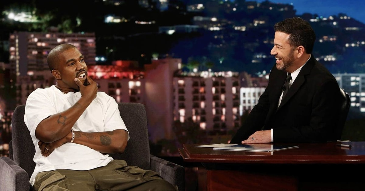 Kanye West silenced by Jimmy Kimmel's question about Trump
