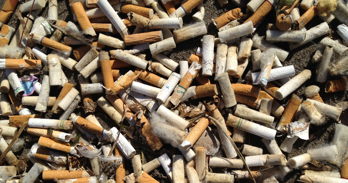 Plastic straw ban? Cigarette butts are the single greatest