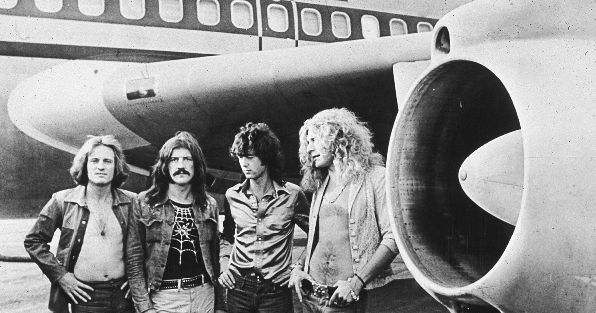 Led Zeppelin band shot