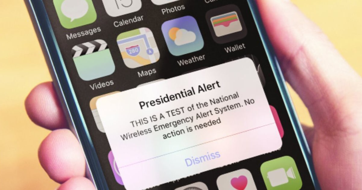 Fema Sends Test Of Presidential Alert System To Cellphones Of