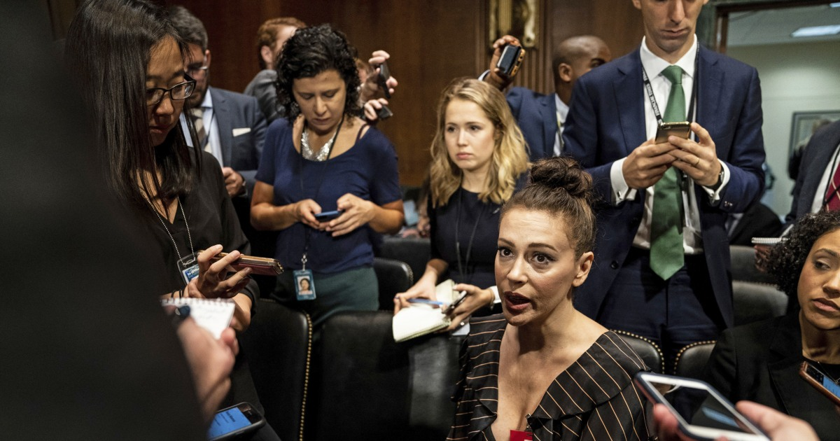 Alyssa Milano calls for sex strike to protest abortion bans - NBC News