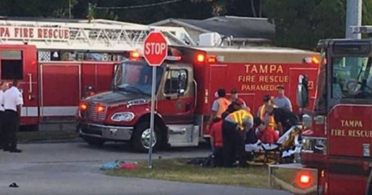 Five children at Tampa bus stop hit by car, driver in custody