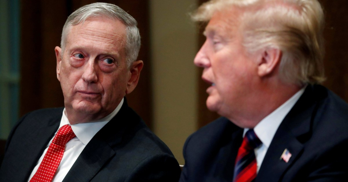 Current Status: Book by insider will tell how Mattis tried to block Trump's ideas