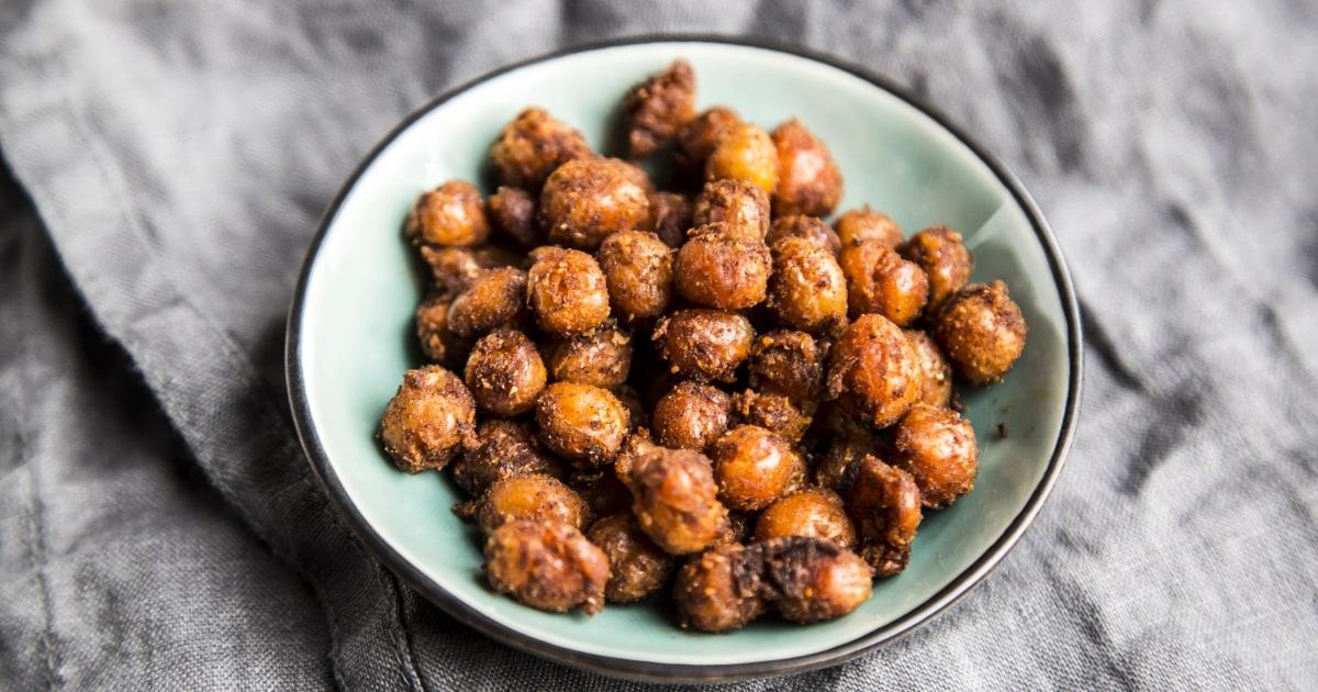 Müssen Sie eine gesunde snack-Idee? Versuchen Sie diese im Ofen geröstete Kichererbsen