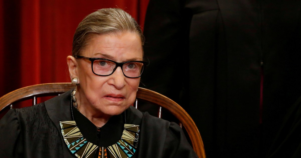 Vandalism of Ruth Bader Ginsberg poster being investigated as hate crime