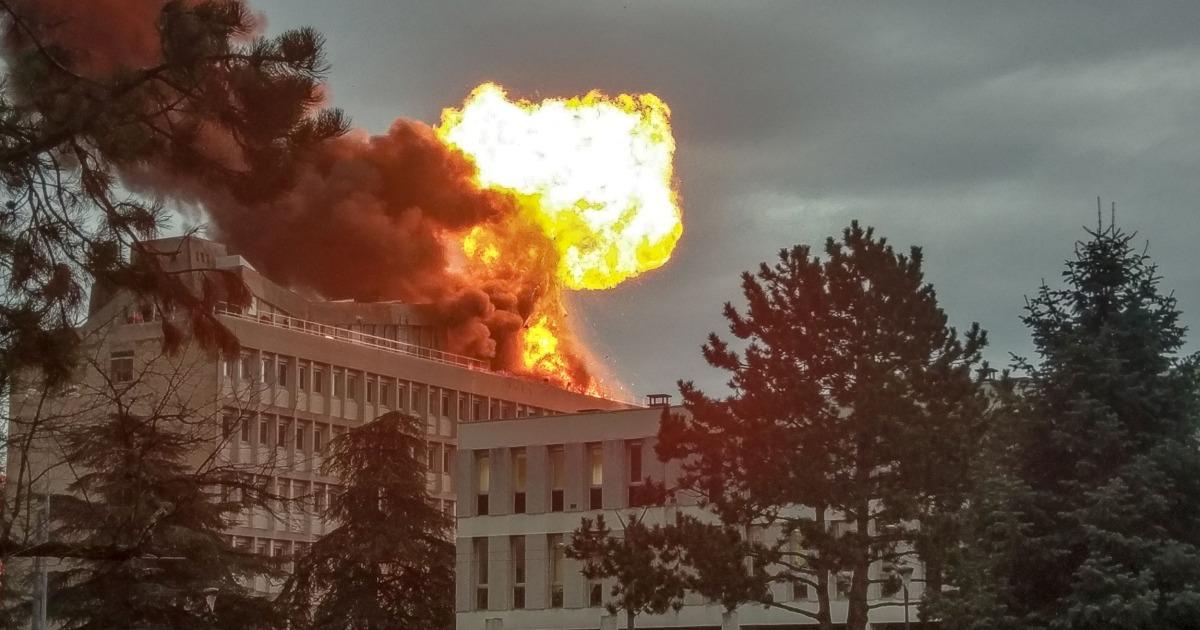 Fireball Explodes At University Of Lyon In France