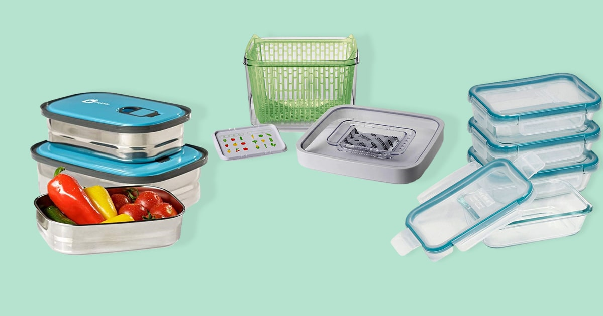 Refrigerator Lunch Food Storage Container Prep Box Meal Container Separate Box