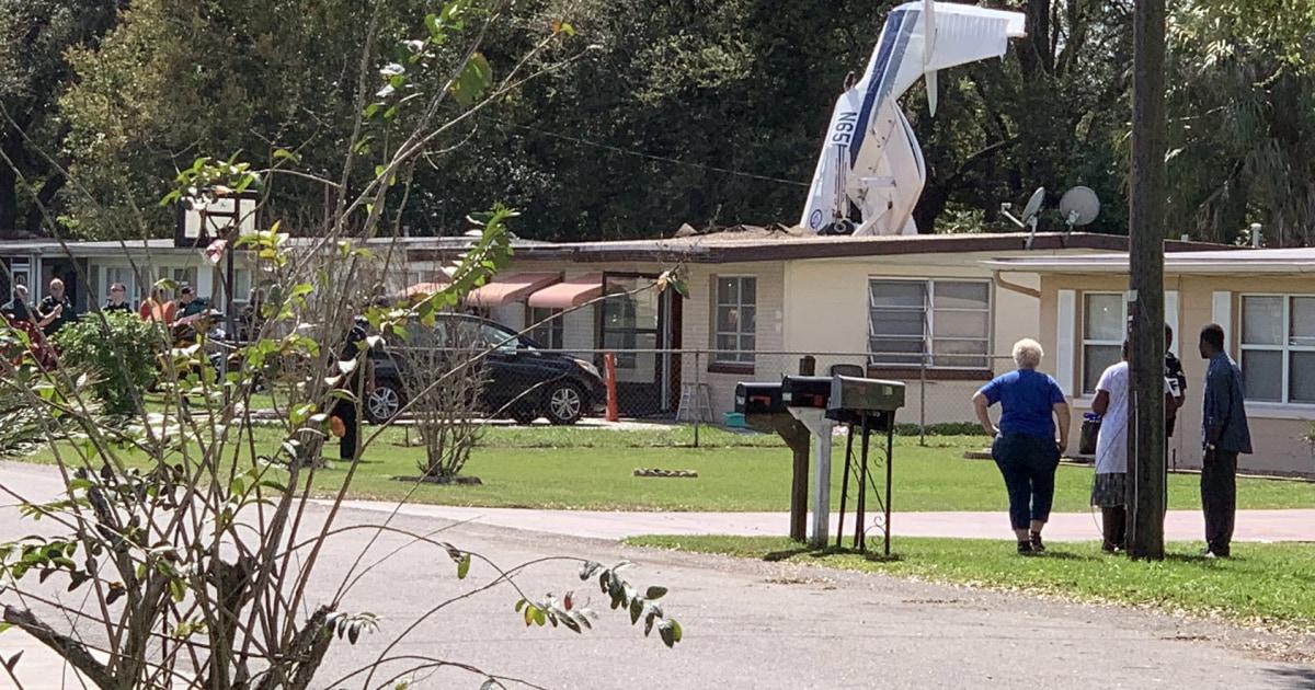 Unbelievable Scene As Plane Crashes Into Florida Home Killing Flight Instructor