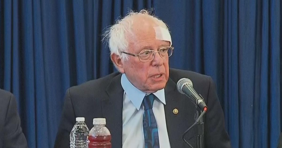 Bernie Sanders gets stitches after cutting head on shower door