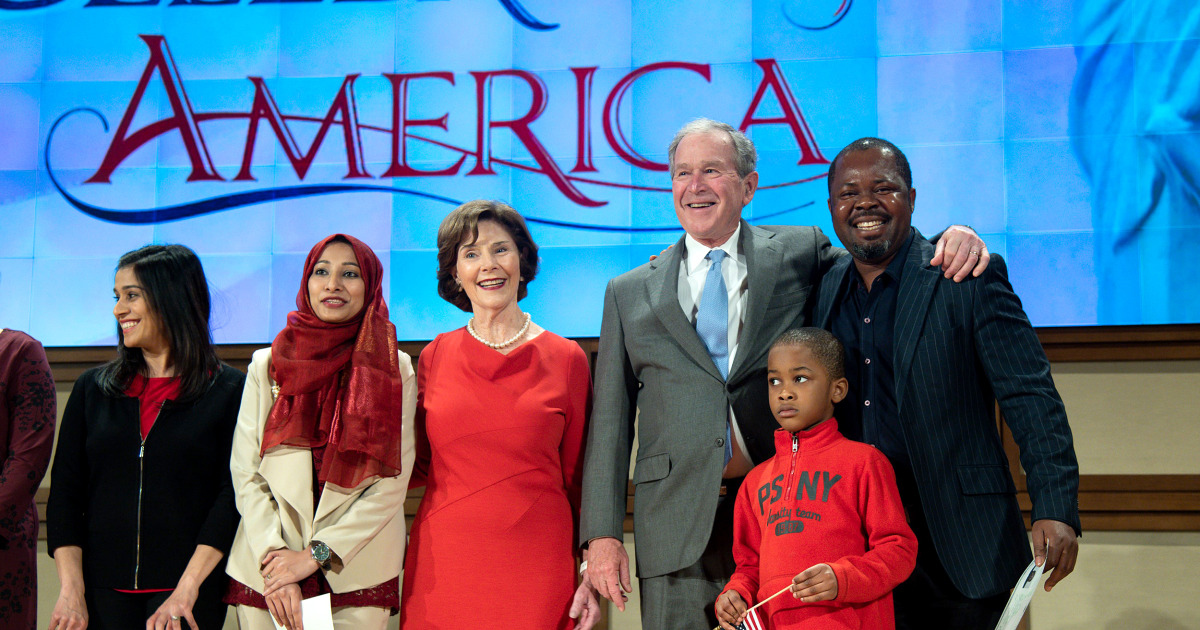 George W  Bush says 'immigration is a blessing and a