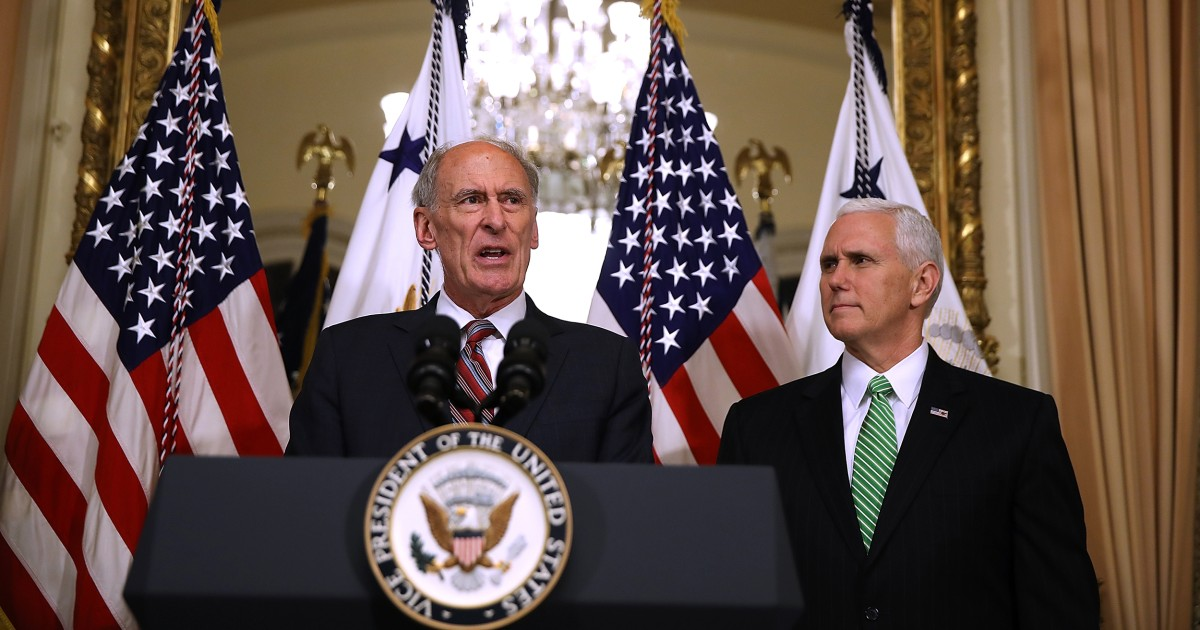 Current Status: Pence talked Dan Coats out of quitting Trump admin in December