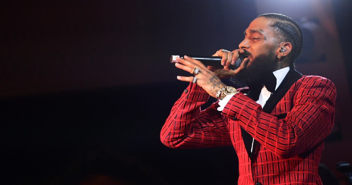 Rapper Nipsey Hussle killed in shooting outside his L A  store