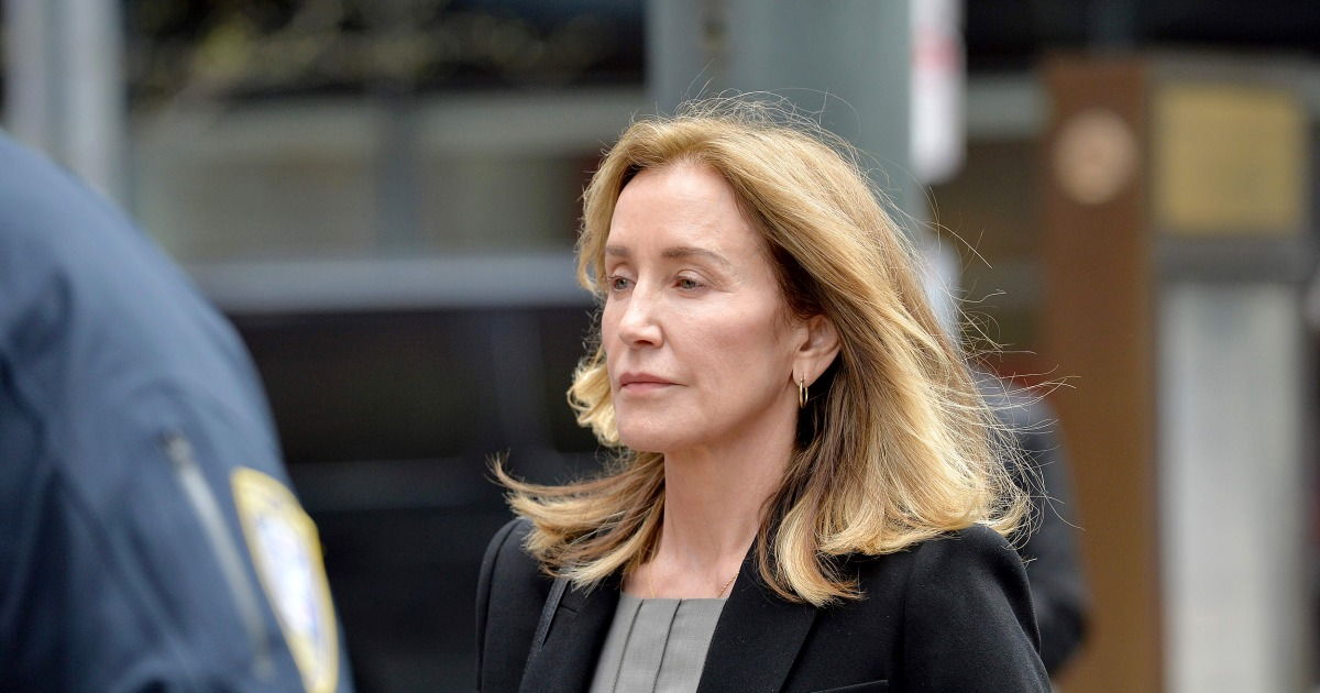 Felicity Huffman tearfully pleads guilty in college admissions scandal – NBC News