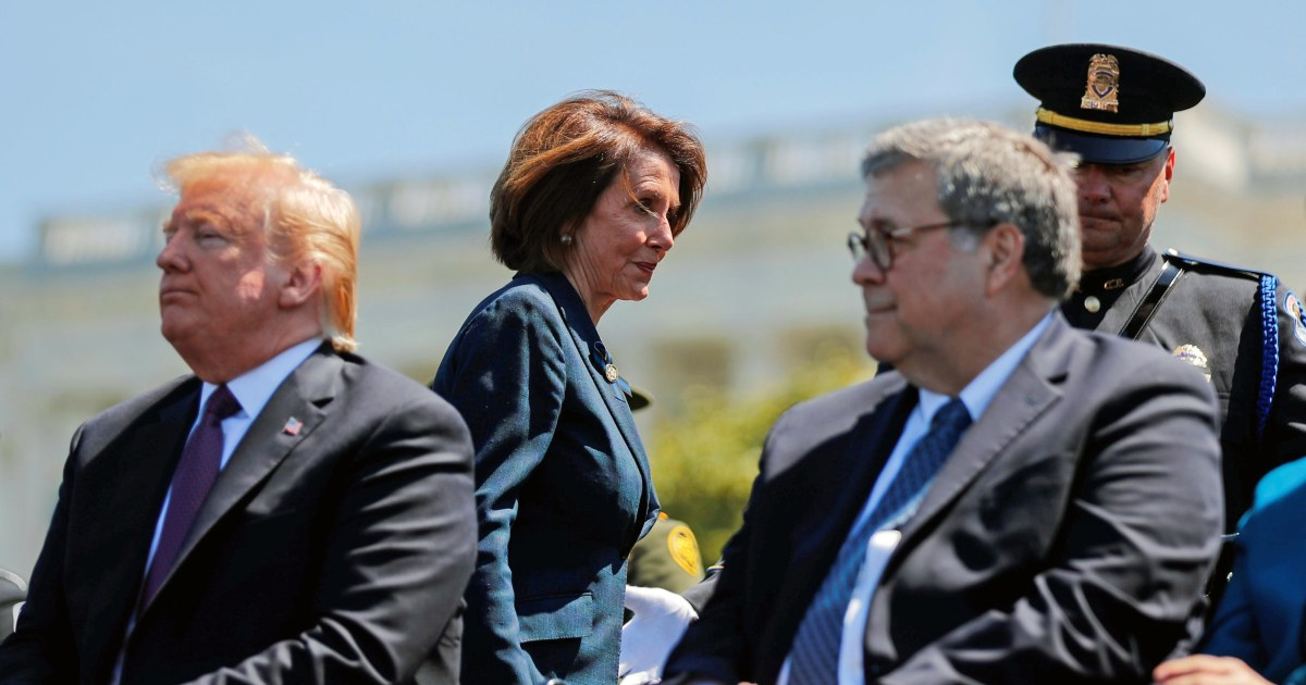 """Did you bring your handcuffs?"" AG Barr ribs Pelosi about contempt finding"