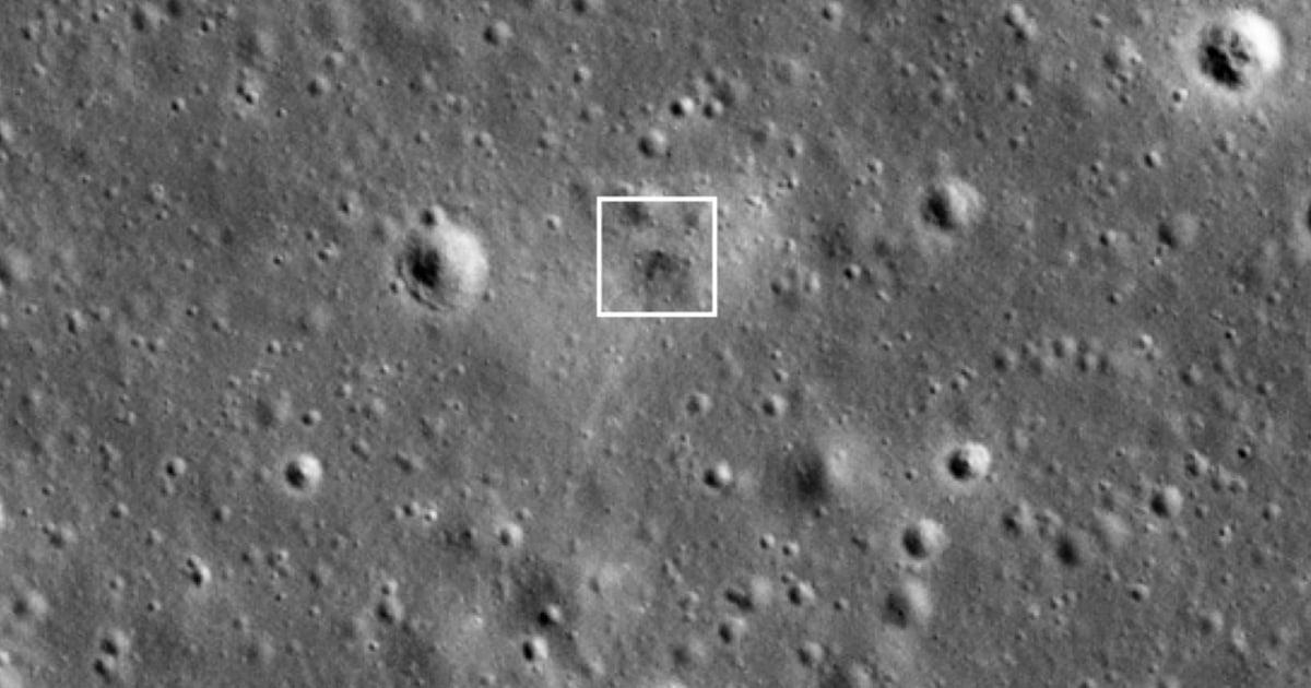 NASA photos show crash site of Israel's Beresheet moon lander