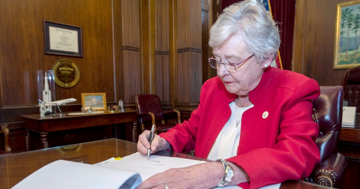 Alabama governor signs controversial abortion ban bill into law