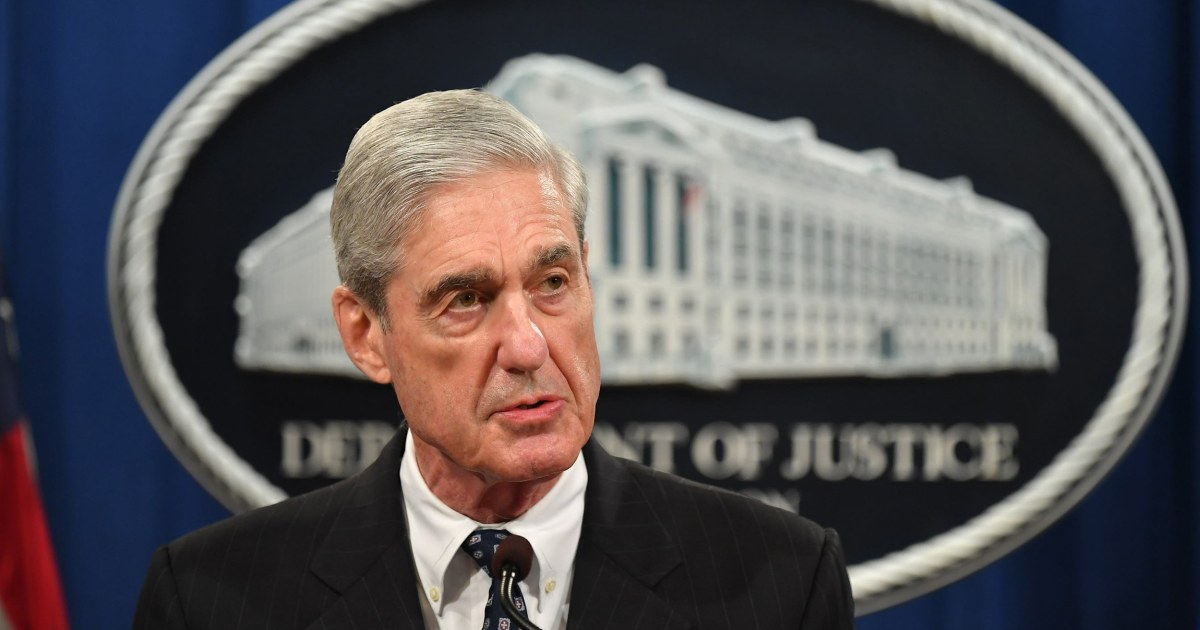 Mueller says charging Trump wasn't an 'option', won't