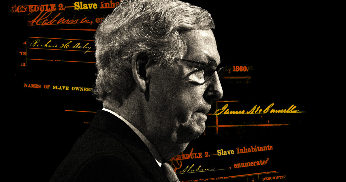 Sen  Mitch McConnell's great-great-grandfathers owned 14