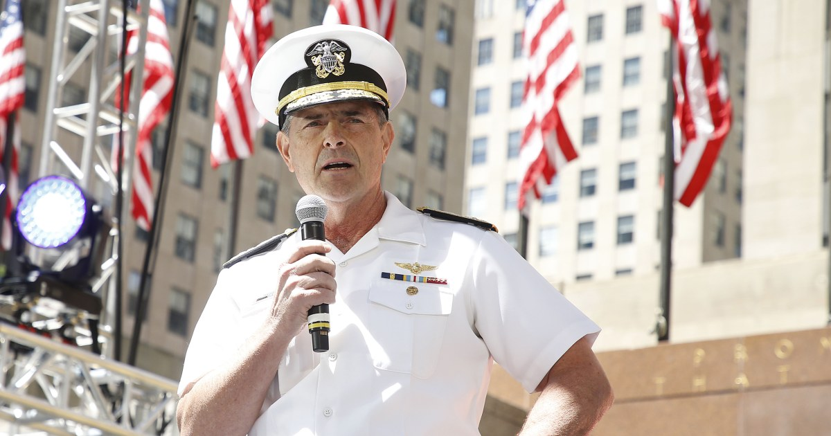 In surprise move, admiral tapped to lead U S  Navy declines