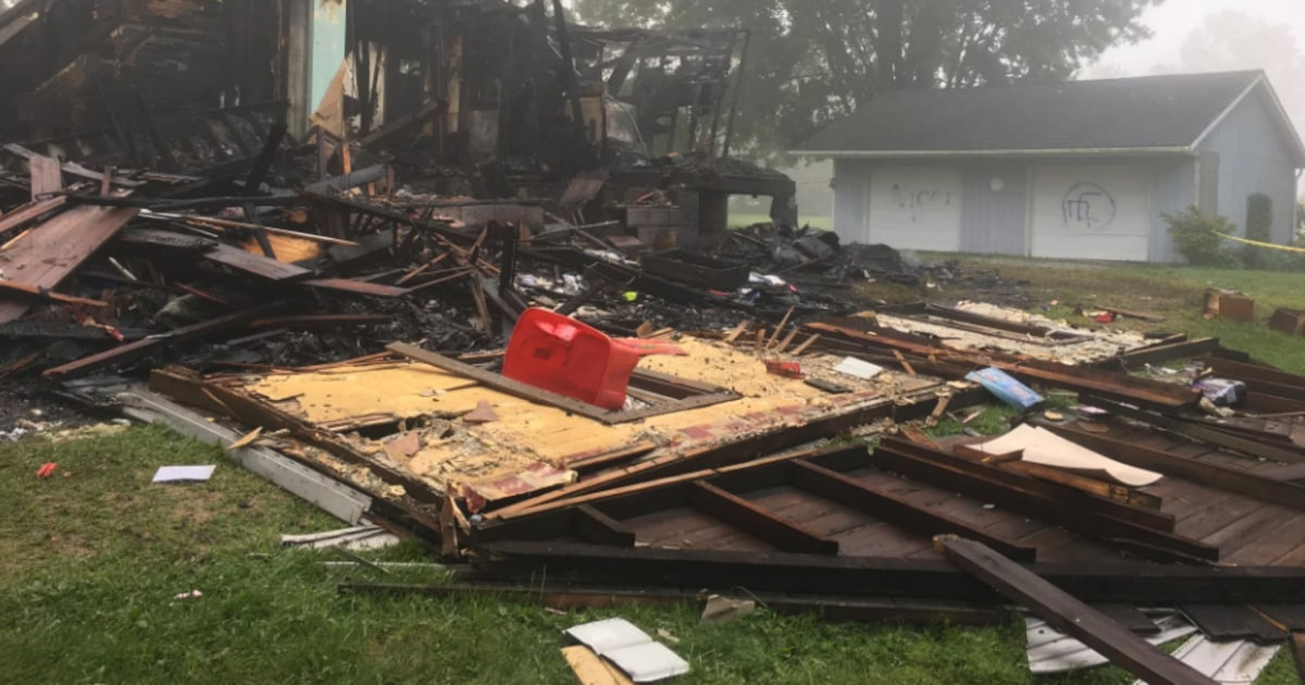 Racial slurs, swastika painted near Ohio house that exploded