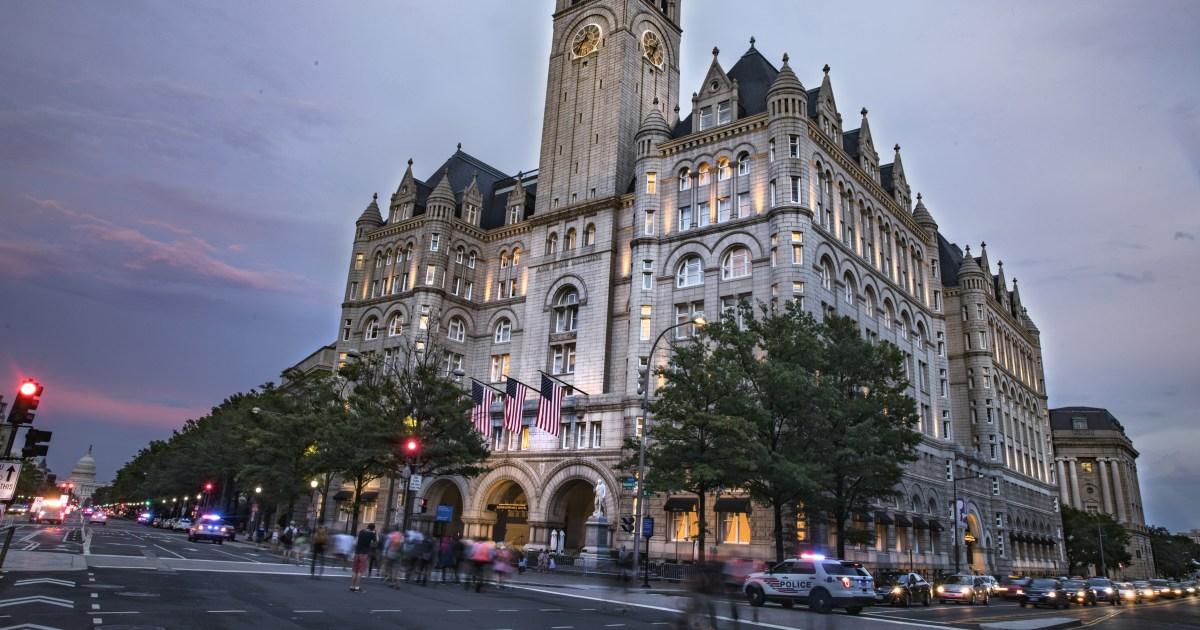 Im Dienstbezüge Fall, Gericht erscheint, die sich über Trump Hotel