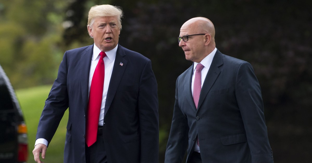As frustration with Bolton mounted, Trump reached out to ex-adviser McMaster