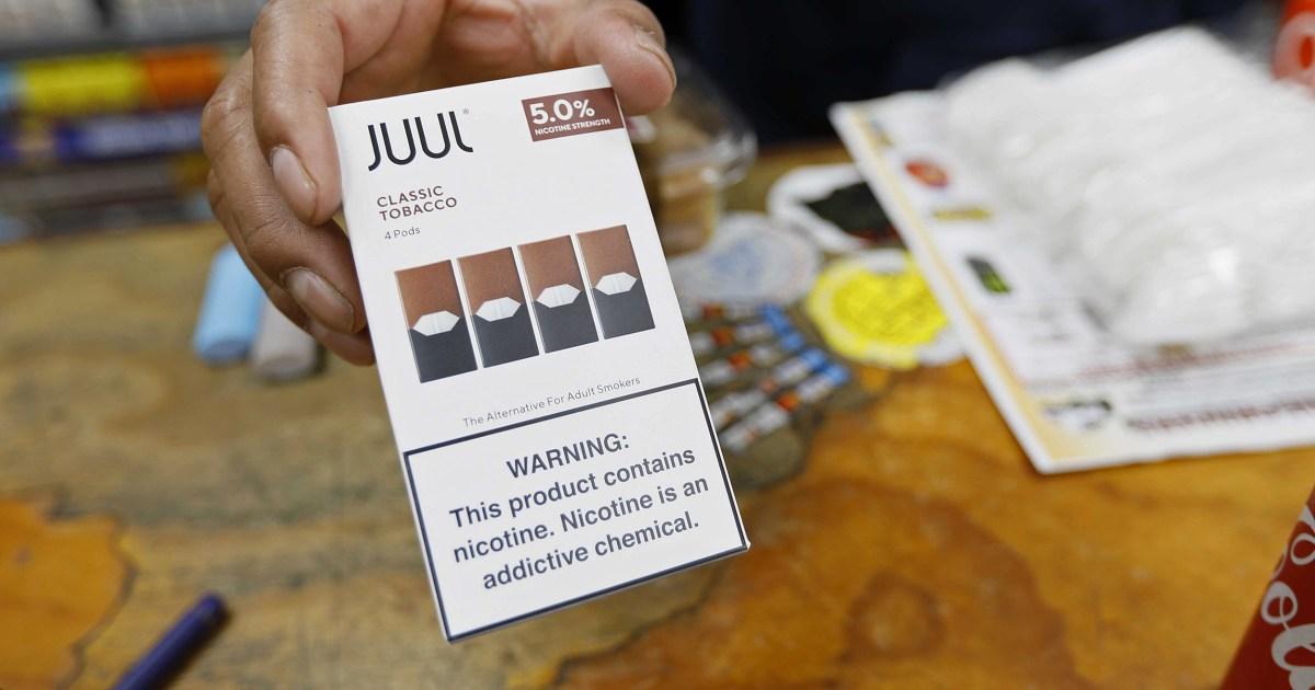 Juul gewarnt, über Ansprüche, die e-Zigarette sicherer als das Rauchen