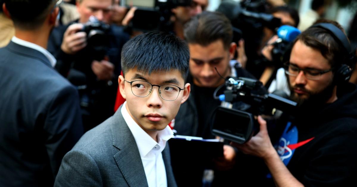 Aktivist Joshua Wong bringt Hong Kong fight US