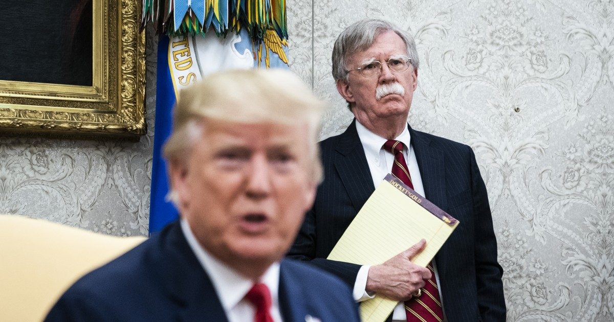 Democrats demand Bolton testify after report his book says Trump ...