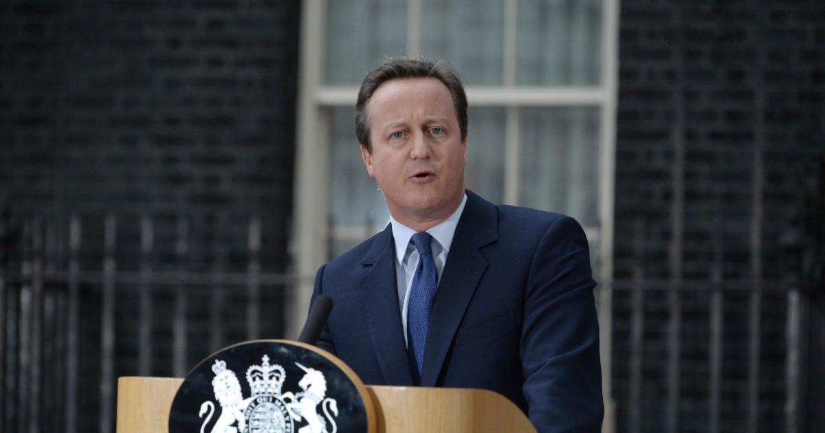 旧英国PMキャメロン'本当に申し訳ありません、
