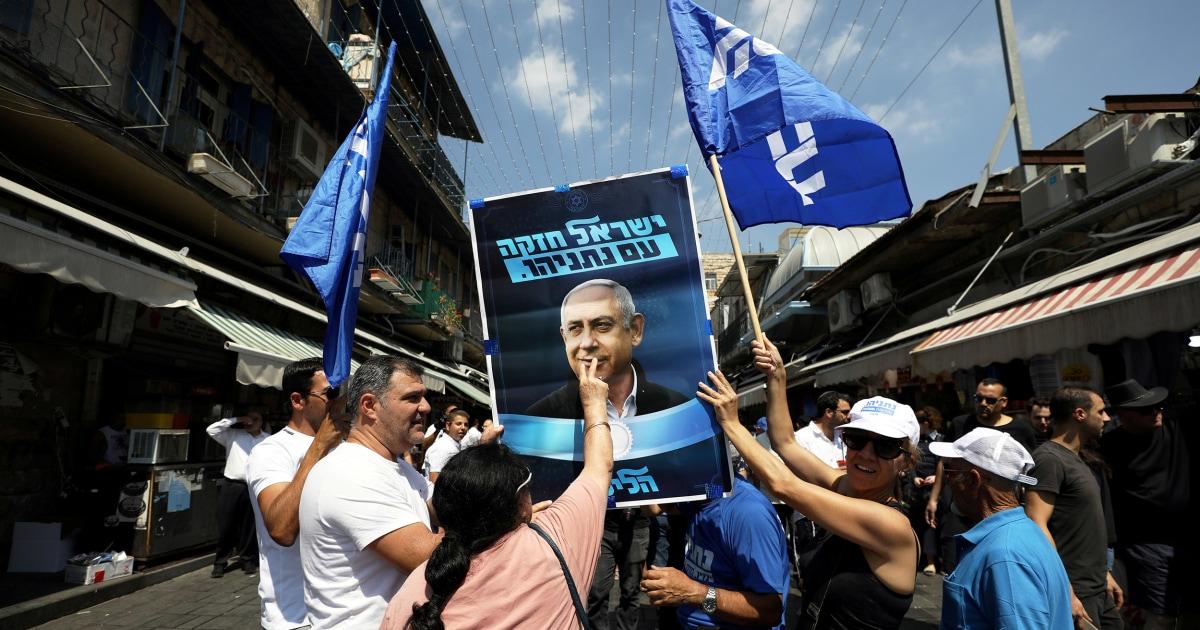 ネタニヤフを戦う彼の政治としてのイスラエルヘッドの世論調査