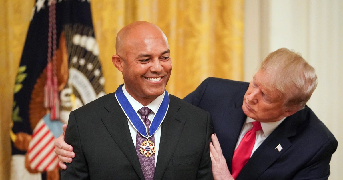 Trump awards Presidential Medal of Freedom to baseball legend Mariano Rivera