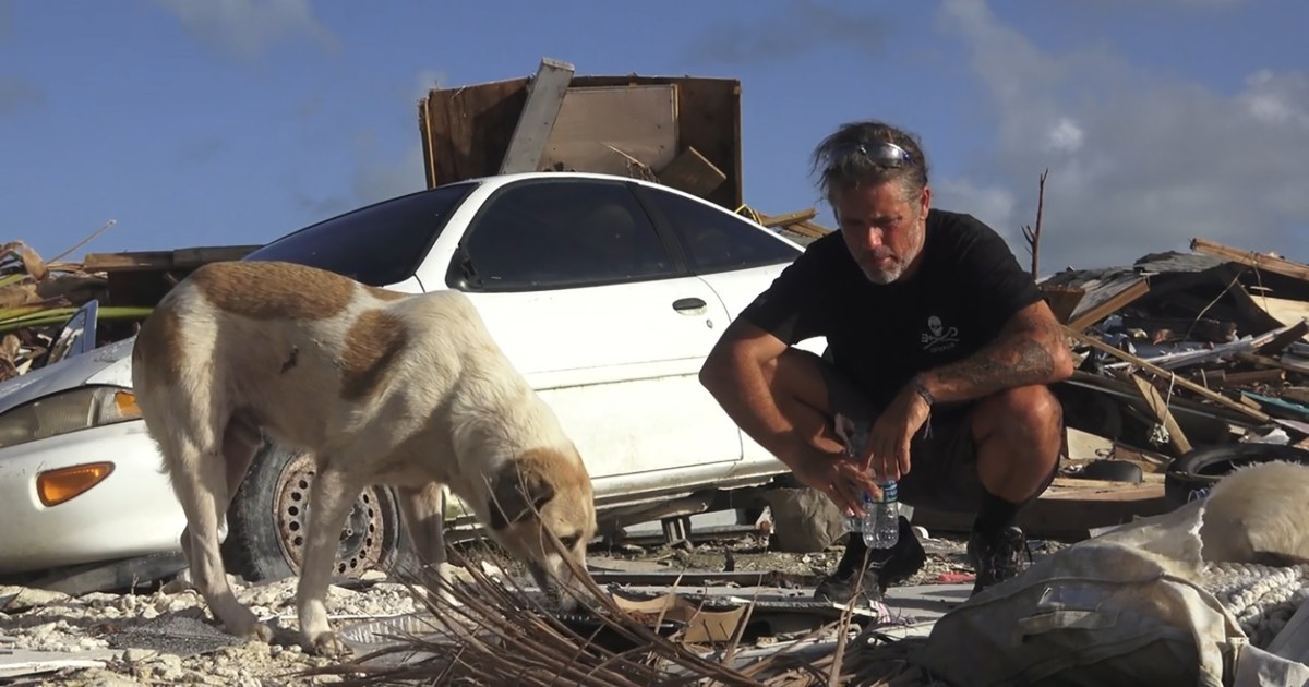 Drone membantu pembuat film penyelamatan hewan terdampar di Bahama setelah Badai Dorian