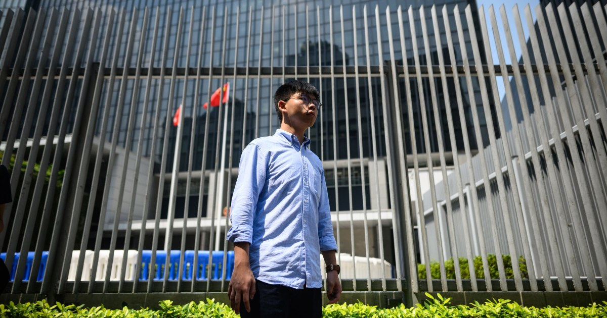 著名な香港の活動家であるジョシュア-ウォンにオフィス