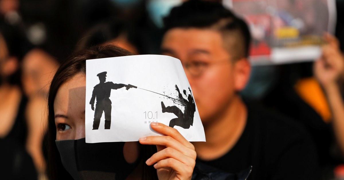 Studentische Demonstrant erschossen von Hong Kong Polizei aufgeladen mit Angriff