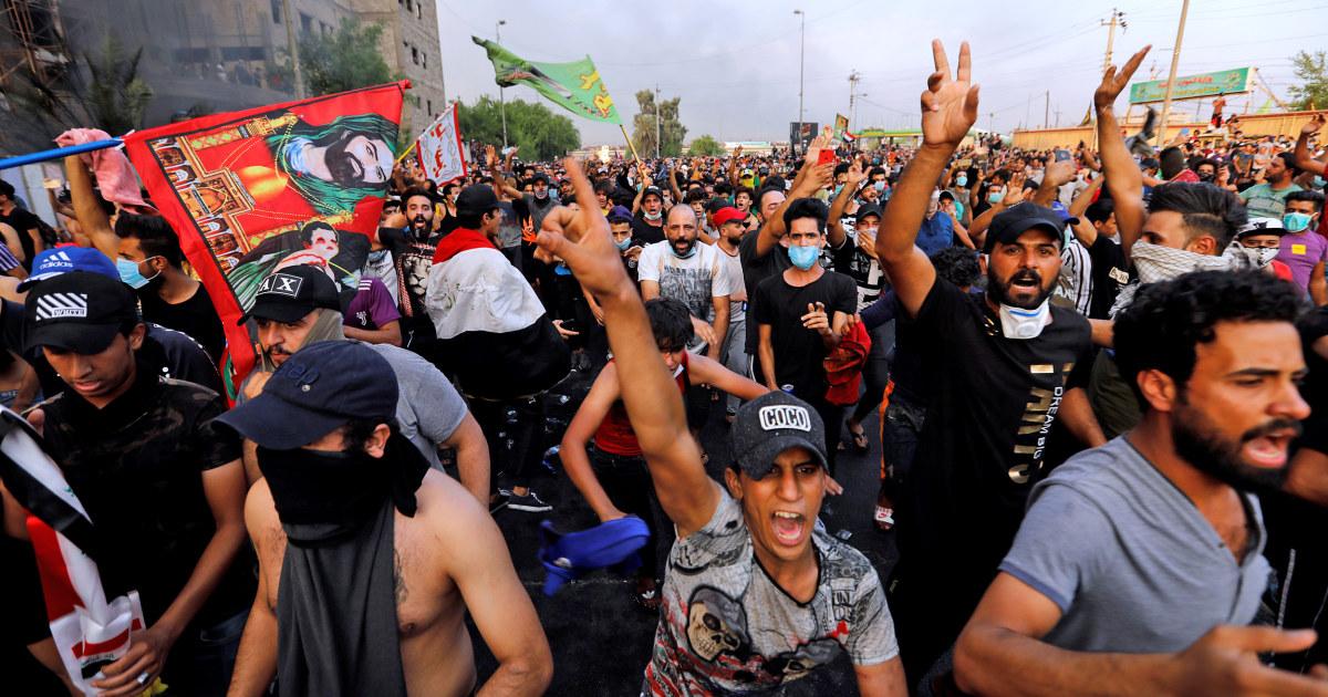 Jam malam, penembakan sebagai anti-pemerintah dalam aksi unjuk rasa pegangan Irak