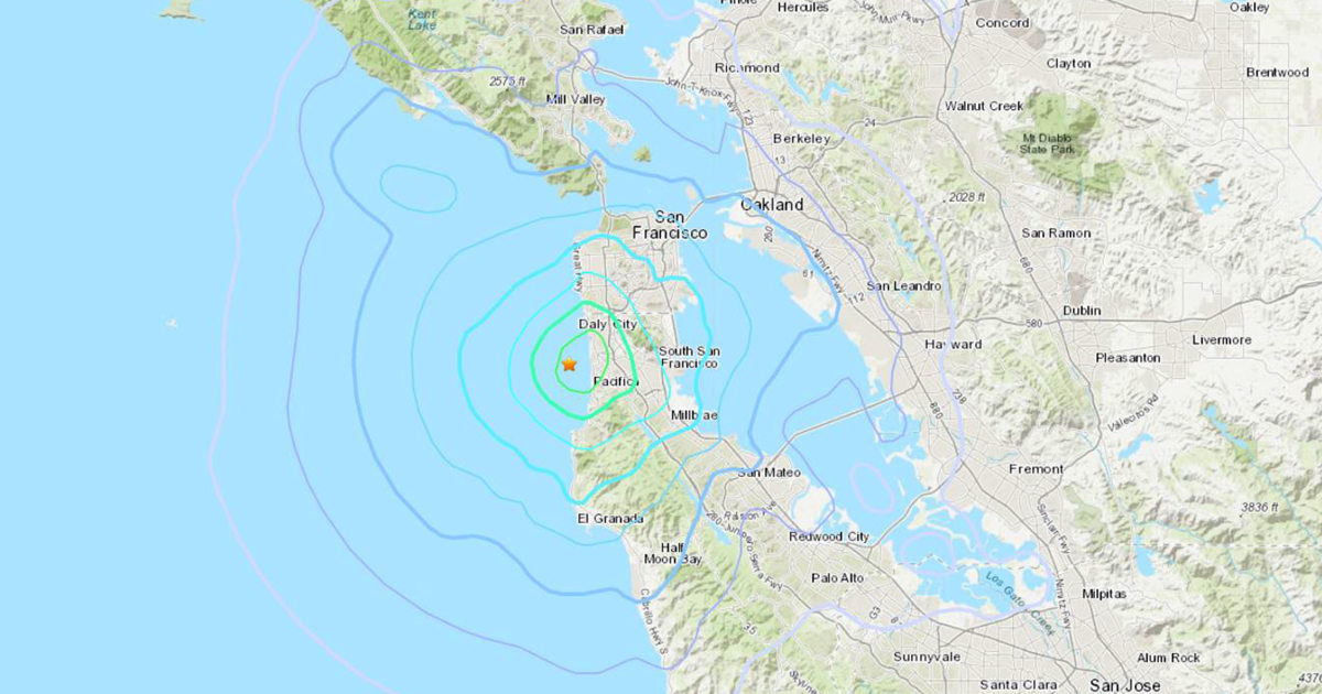 3.6 magnitude earthquake hits about 9 miles southwest of San Francisco thumbnail