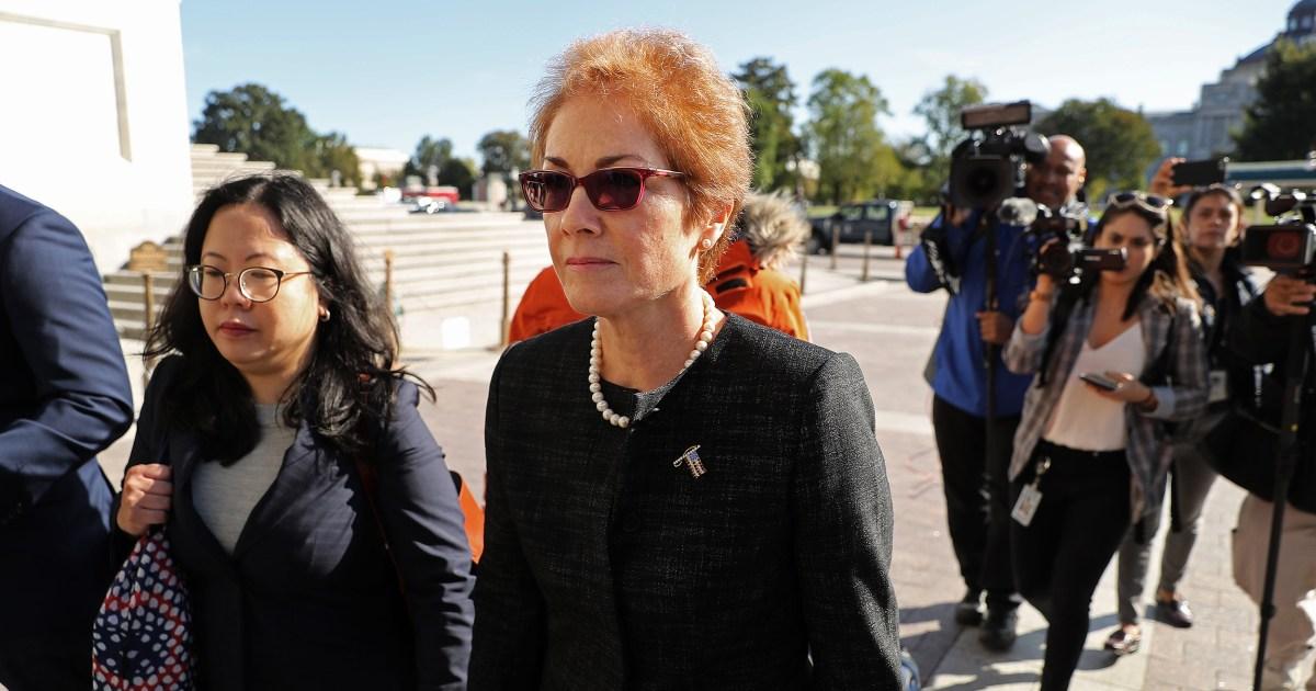 Diplomat bietet details über Amtsenthebung von Botschafterin Marie Yovanovitch