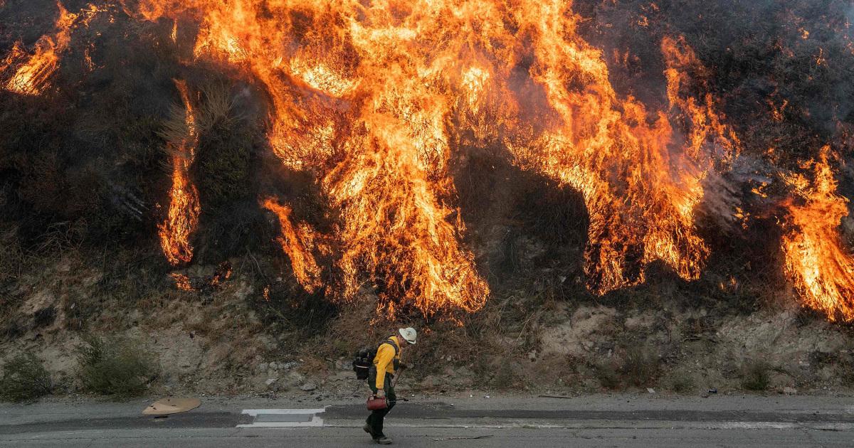 Perlombaan ini berisi angin berbahan bakar Los Angeles wildfire