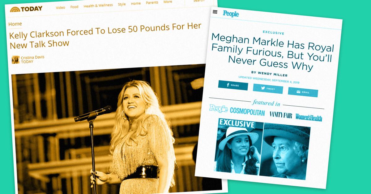 Wie falsche Nachrichten über Meghan Markle und Kelly Clarkson sind zum Verkauf von Diät-Pillen