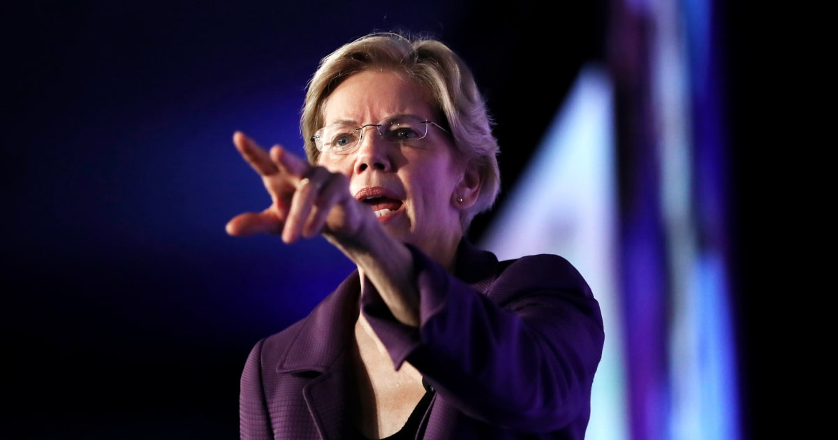 Elizabeth Warren Rampen up Kampf mit Facebook