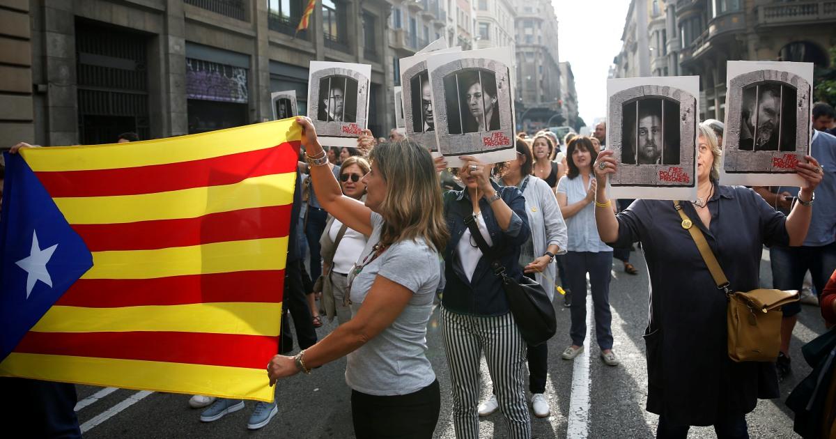 スペイン刑務所のリーダーカタロニアが独立の立入札のための治安妨害
