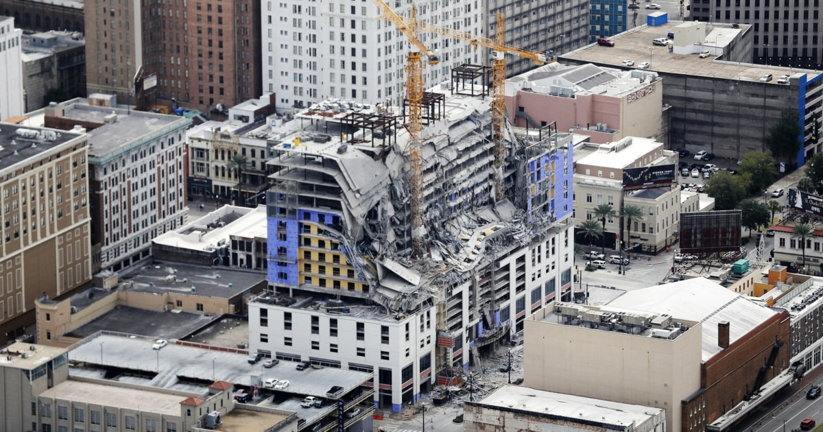 Εργαζόμενος τραυματίστηκε στο Hard Rock Hotel κατάρρευση στη Νέα Ορλεάνη για να απελαθούν
