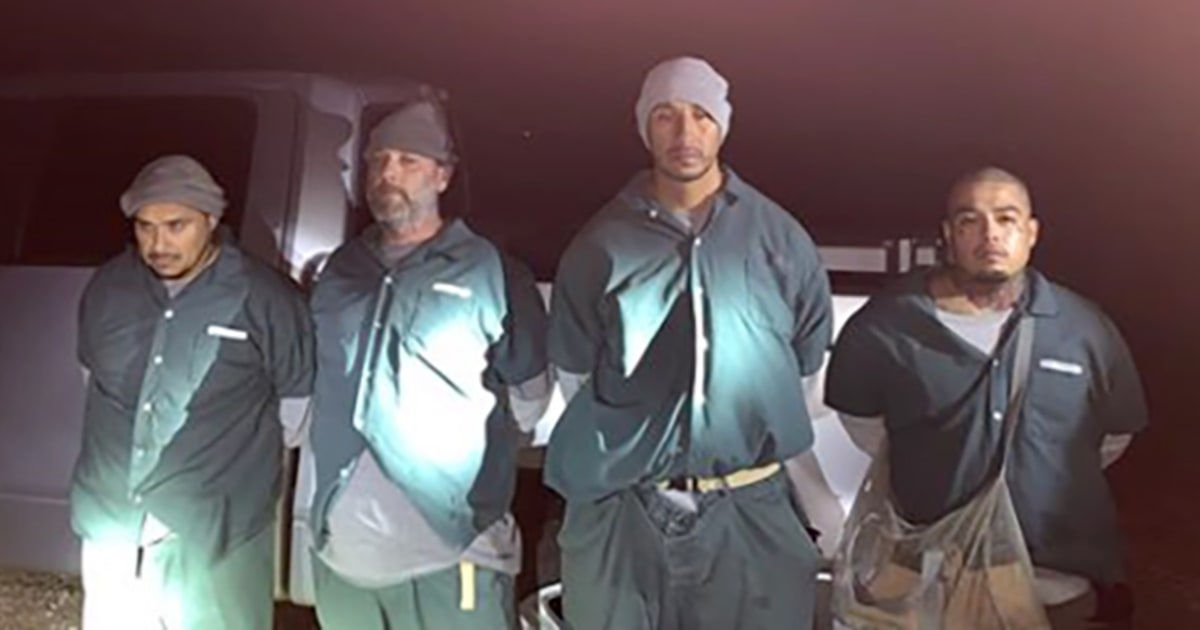 Empat diisi dengan berulang kali melarikan diri dari penjara, kembali dengan minuman keras dan telepon.