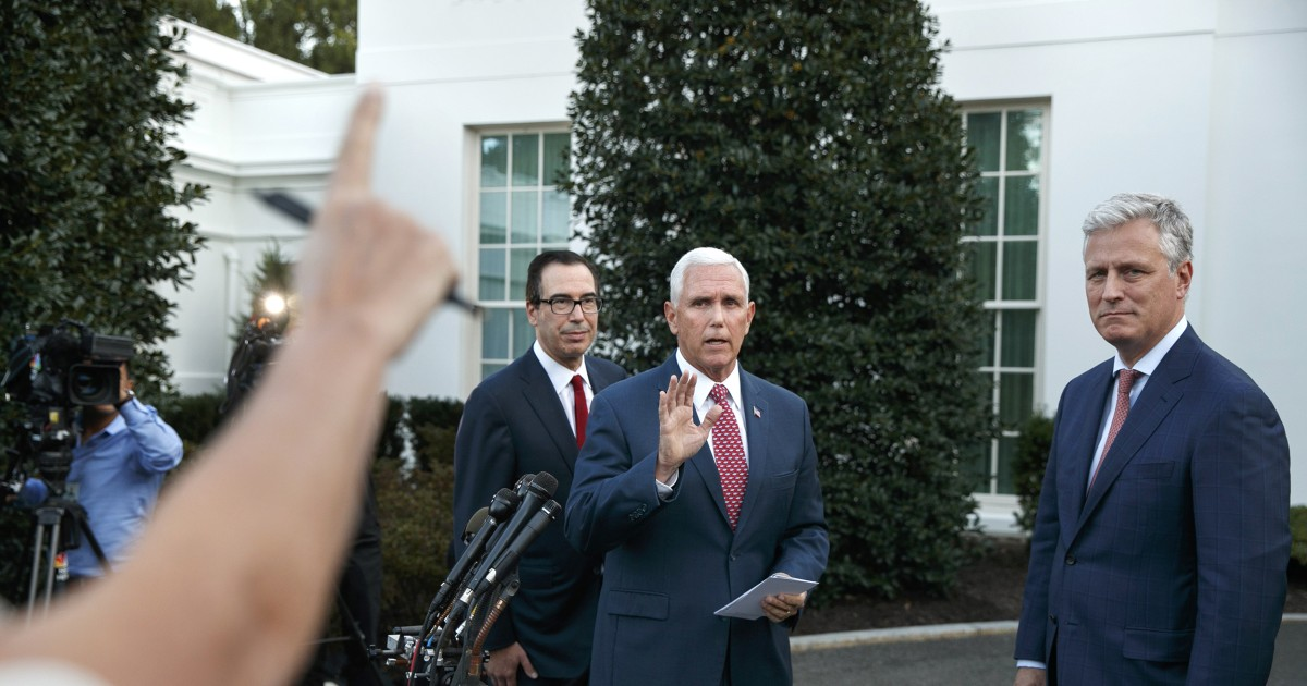 <b>Pence refuses House request to provide documents related to Ukraine call</b>